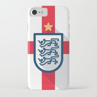 england iPhone & iPod Cases featuring England Minimal by Daniel Nyari