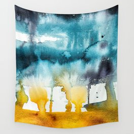 Fall Storm watercolor Wall Tapestry
