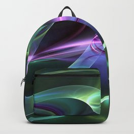 Fluorescent And Abstract, Fractal Art Backpack
