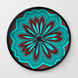 Floral message #3 Wall Clock