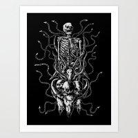 bondage Art Prints featuring Cruel bondage by sebrodbrick