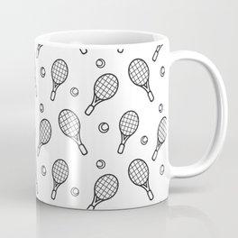 Tennis sport outline pattern Coffee Mug