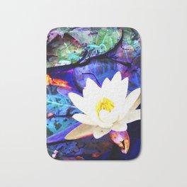 Electrifying Lotus Bath Mat