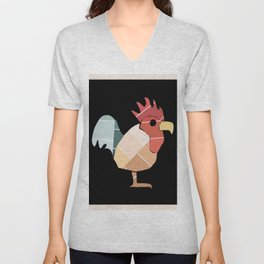 Paint Chip Rooster Unisex V-Neck