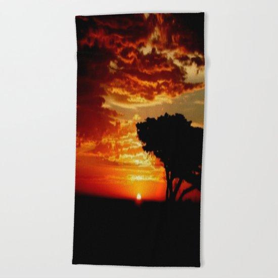 Fiery Dragon Beach Towel