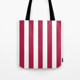 French wine fuchsia -  solid color - white vertical lines pattern Tote Bag