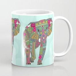 painted elephant aqua spot Coffee Mug