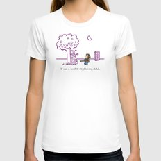 Dr Harold and the Purple Screwdriver White Womens Fitted Tee SMALL