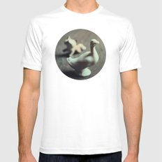 goose & fox White Mens Fitted Tee MEDIUM