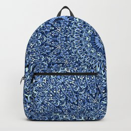 Sacred Blue Garden Mandala Backpack