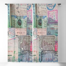 A Celebration of Passport Stamps Blackout Curtain