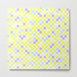 Fun summer Yellow pattern . Metal Print