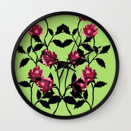 Rose Vines Vector Wall Clock