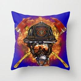 Firefighter rescue volunteer Throw Pillow