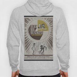 Vintage Poster - Beat Big Business, Vote Communist (1975) Hoody