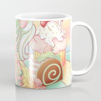 mlp Mugs featuring Strawberry Dollop MLP by Whimsette