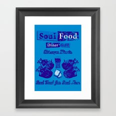 Soul Food for Soul Men Framed Art Print