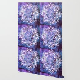 Galaxy Mandala Purple Lavender Blue Wallpaper