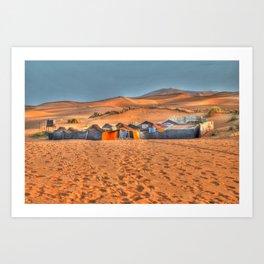 Into the desert Art Print