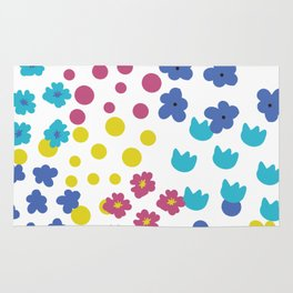 Flowers and Dots Galore Rug