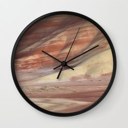 Hills Painted by Earth Minerals Wall Clock