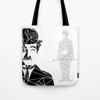 chaplin Tote Bags featuring CHAPLIN by ARCHIGRAF