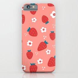 Wild Strawberries Red iPhone Case