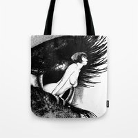 apollonia Tote Bags featuring asc 602 - La spectatrice (Valentina at the gallery) by From Apollonia with Love