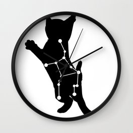 virgo cat Wall Clock