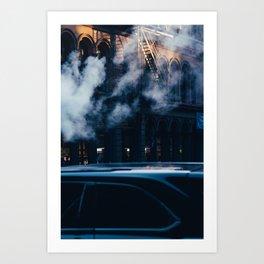 Smoke Building New York City (Color) Art Print
