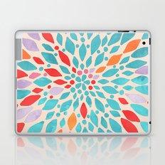 Radiant Dahlia - teal, orange, coral, pink watercolor pattern Laptop & iPad Skin