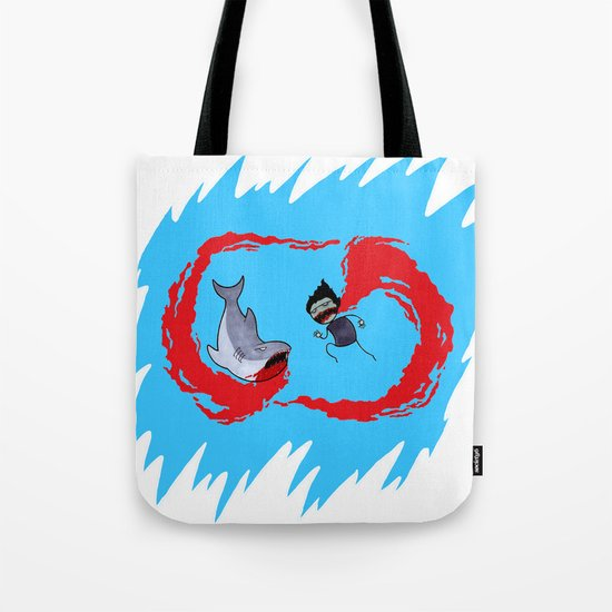 Zombie vs Shark! Tote Bag