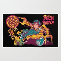 ripley Area & Throw Rugs featuring RIPLEY'S BITCH-BUSTER by BeastWreck