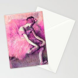 The Dancer by Edgar Degas Pink Lavender Peach Stationery Cards