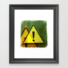 exclamation Framed Art Print