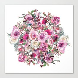 Bouquet of flowers - wreath Canvas Print