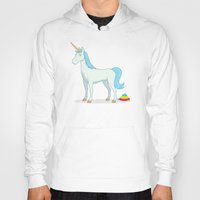 poop Hoodies featuring Unicorn Poop by See Mike Draw