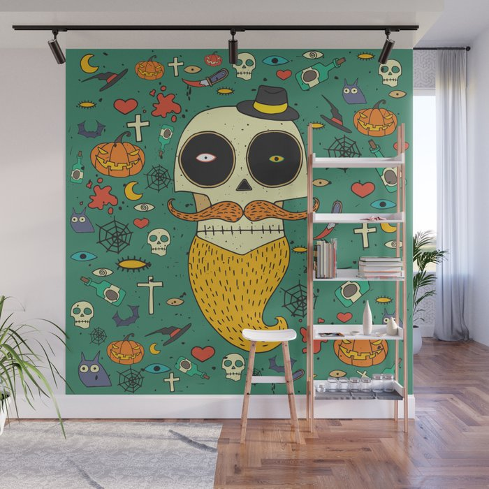 Halloween Wall Mural by ariadnas Society6