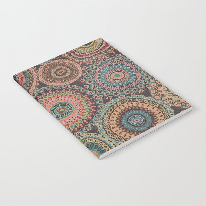 Boho Patchwork-Vintage colors Notebook