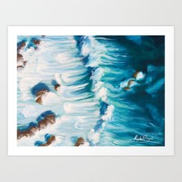 Rocky Waters Painting Art Print
