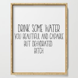 Drink Some Water, Kitchen Decor, Stay Hydrated, Kitchen Wall Art Serving Tray