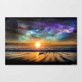 Beach and beyond. Canvas Print