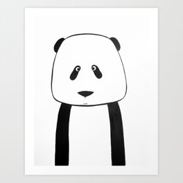 No. 007 - Modern Kids and Nursery Art - The Panda Art Print