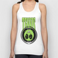 tennis Tank Tops featuring TENNIS  by Robleedesigns
