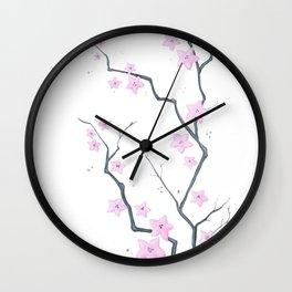 Cherry Blossom - Flores de cerejeira Wall Clock