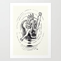revolution Art Prints featuring Revolution! by Rilke Guillén