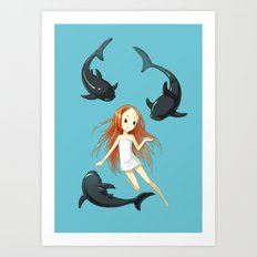 Underwater 2 Art Print