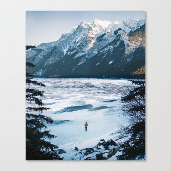 Winter at Lake Minnewanka Canvas Print
