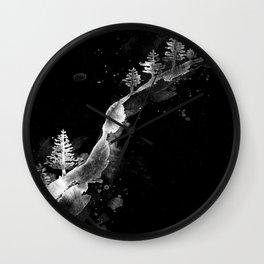 SNOW HILLSIDE1 Wall Clock