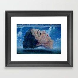 Ice cold water Framed Art Print